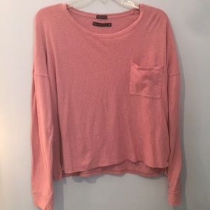 Abercrombie and Fitch Pink Long Sleeve